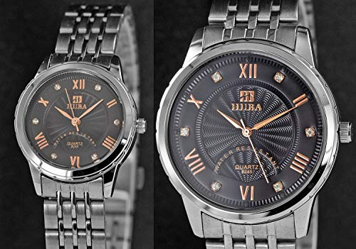 Damen und Herren Uhren im Doppelpack in Partnerlook mit Stilvollen eleganten Armbanduhren