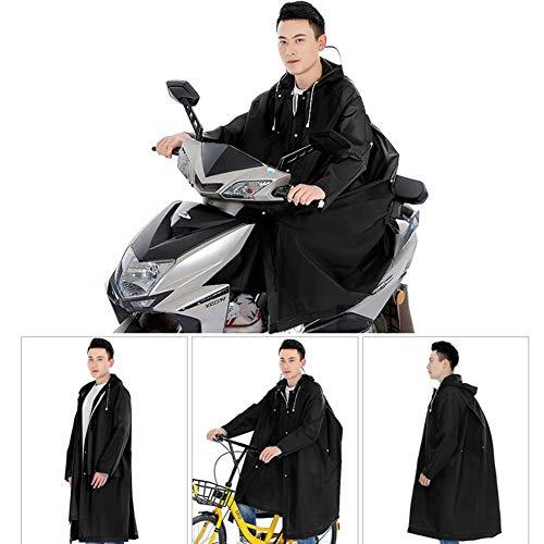 GPFDM Impermeabile da Escursionismo Lungo - Bicicletta A Corpo Intero con Batteria Elettrica Poncho per Bambini Adulti,Black,M