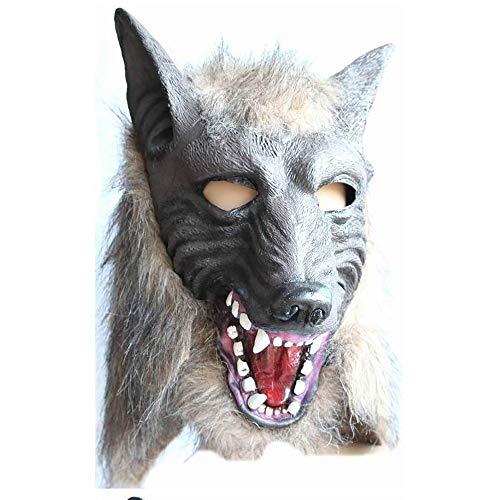 OD.zepp Scary Halloween Mask, Wolfskopf Maske für