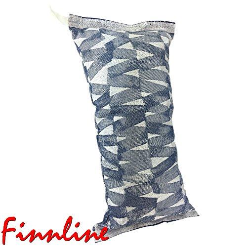 Weigand Saunakissen TWIST BLUE I Feiner, weicher Leinen - Baumwoll - Bezug I Waschbar bei 40°C I Made in Finland I Kissen I Sauna I Saunazubehör I Kopfstütze I Twist Blue
