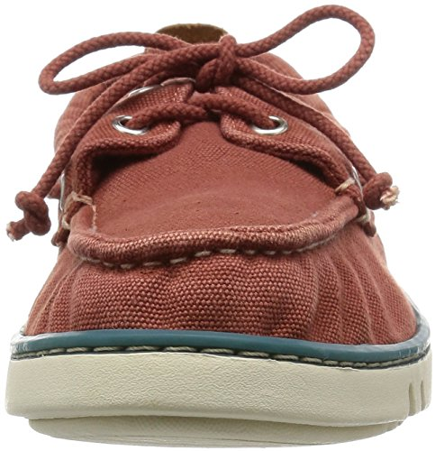 Timberland Hookset Handcrafted Red Ochre, Chaussures de Voile Homme Rouge - Burdeos