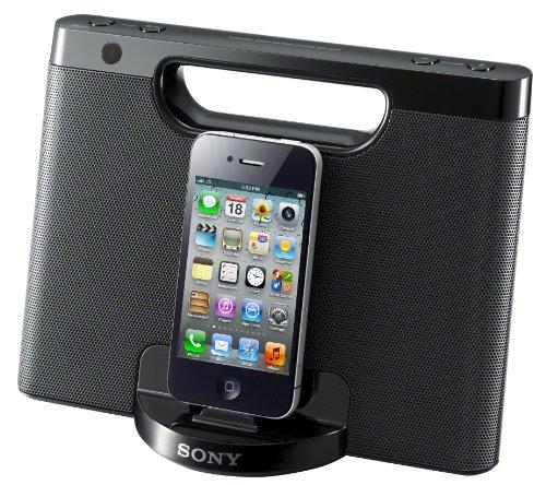 Sony RDPM7IPB Lautsprecher mit Docking Station für Apple iPod/iPhone schwarz Portable Ipod-docking-stationen
