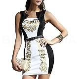 mywy - vestitino donna corto festa vestito cerimonia abitino party elegante mini abito, colore nero, taglia M