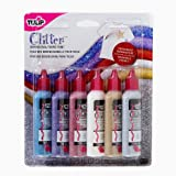 Tulip - Set di colori glitterati per tessuto, 6 x 37 ml