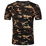 MRULIC Herren Sweatshirt Langarmshirt Sweatjacke Pullover Prints Camouflage Pulli T-Shirt Top Bluse (L, Gelb)