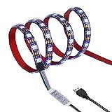 Led Streifen 1M Led Strip Beleuchtung 1M 60Leds IP65 Wasserdicht 5050 SMD Rgb Led mit Mini Controller und USB Kabel für Flachbildschirm Schrank Heim Dekorative Energieklasse A