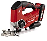 Einhell Akku Stichsäge TE-JS 18 Li Set Power X-Change (Lithium Ionen, 18 V, max. 80 mm, 4-Stufen...
