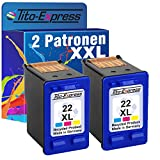 PlatinumSerie® 2x Tinten-Patrone für HP-22 XL Color Deskjet D1560 Officejet 5600 5605 5605Z 5610