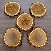 5 placas de madera de acacia, placa trofeo de jabalí y árbol AF 16 cm