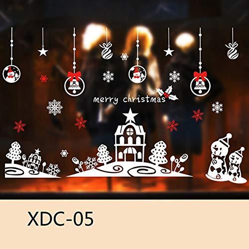 Gfjhgkyu Frohe Weihnachten Dekoration Weihnachten Schneemann Baum Schneeflocke Fenster Aufkleber Static Home Kids Room Decor 5 -