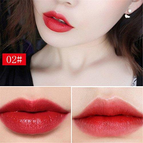 ❤️Lippenstift Feuchtigkeitsspendend,Sisit Wasserdicht Lange Dauerhafter Vampir Stil Make-up Lippenstift Lipgloss (Mehrfarbig B)