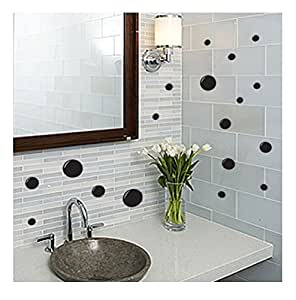 21 x Black Bubbles Pack For The Bathroom Wall Art Stickers 117 UK WALL STICKERS