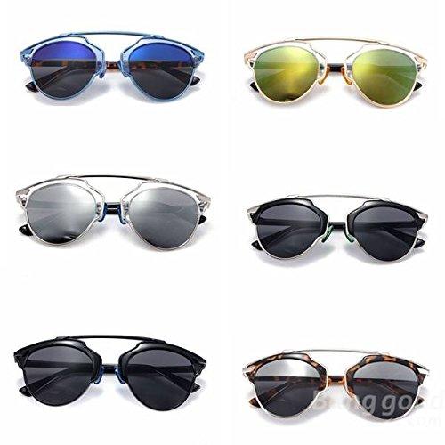 Preisvergleich Produktbild Mark8shop Verspiegelte Piloten-Sonnenbrille, Unisex, Herren, Damen, Retro-Stil, Vintage-Stil, UV-Schutz