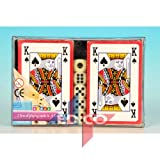 510L1nigT5L. SL160  - NO.1 BETTING 2 PACKS OF PLAYING CARDS & DICE SET Reviews