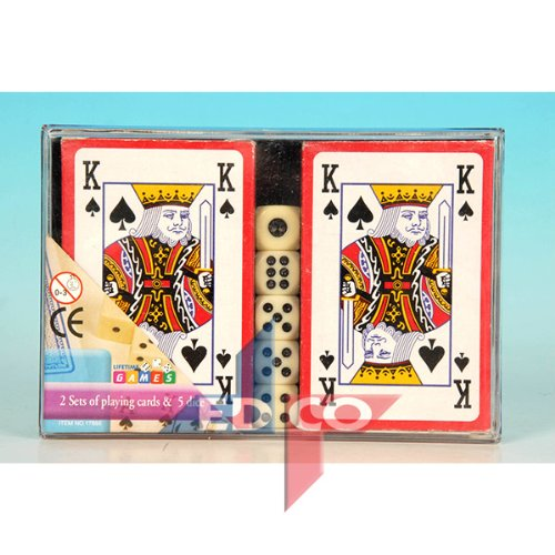 NO.1 BETTING 2 PACKS OF PLAYING CARDS & DICE SET REVIEWS