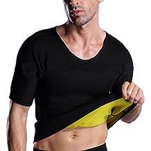 Chaleco Sauna Hombre Neopreno Camiseta Sudoración Pantalones Cortos Trajes Sauna Body Shaper Transpirar Gimnasia para Quema