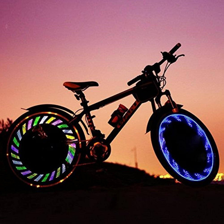 Moppi 7 LED a todo color de gel de sílice de la bicicleta habló la lámpara del alambre de acero MTB luz