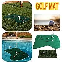 Biback - Juego de Alfombrillas de Golf para Jugar al Patio, Color Verde y Verde