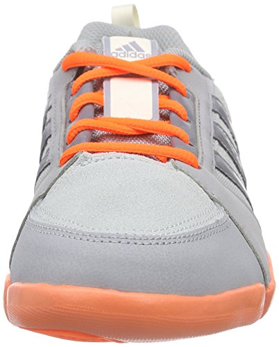 adidas Mardea, Chaussures de Handball Américain Femme gris (Mid Grey S14/Grey/Solar Orange)