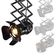 La bombilla no está incluida, se recomienda utilizar LED o bombilla halógena Usted puede utilizar una o varias lámparas para crear la atmósfera de iluminación interior, y ajustar la cabeza de la lámpara para cambiar la luz maravillosa Las aletas de l...