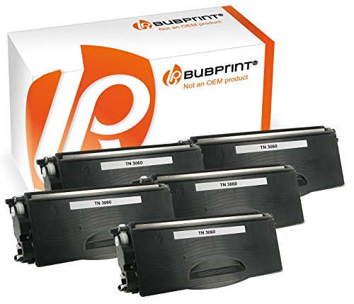 Bubprint 5 Toner kompatibel für Brother TN-3060 für DCP-8085DN HL-5240 HL-5250DN HL-5340D HL-5350DN MFC-8380DN MFC-8460N MFC-8860DN MFC-8880DN Schwarz