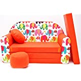 F9Niños Bar Dormir emergente sofá sofá sofá Mini sofá 3en 1Baby Set +–Sillón infantil y asiento cojín + colchón