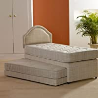 Deluxe Beds Ltd Single 3 In 1 Guest Bed With Deep Quilted Mattresses - Bed With Matching Headboard