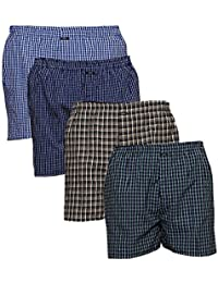 PSK Men's Cotton Boxer - Pack of 4