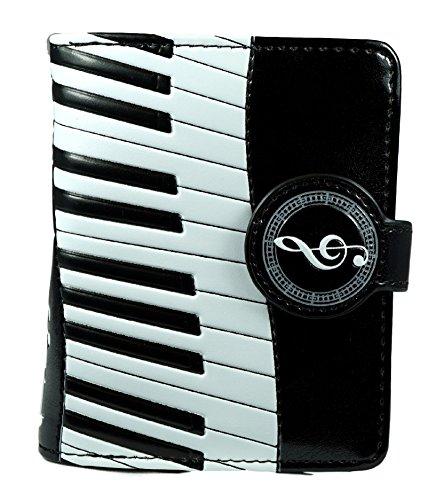 Shagwear portafoglio per giovani donne Small Purse : Diversi colori e design: Sinfonia di piano nero / piano Symphany
