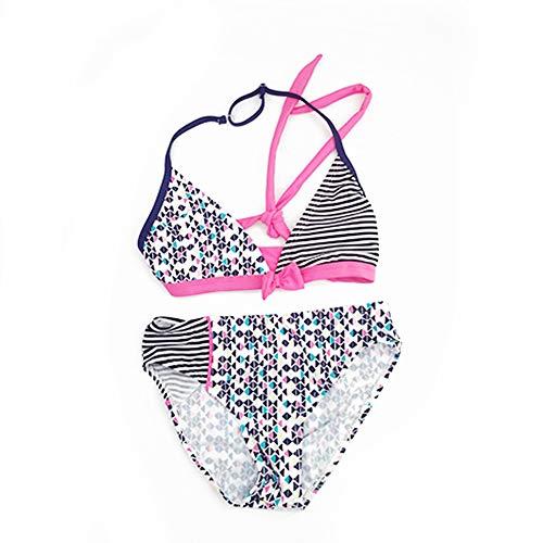 IPBEN Kleinkinder Baby Mädchen Quaste Badekleidung Schwimmanzug Bikini Sets 2-15 Jahre (116, Streifen)