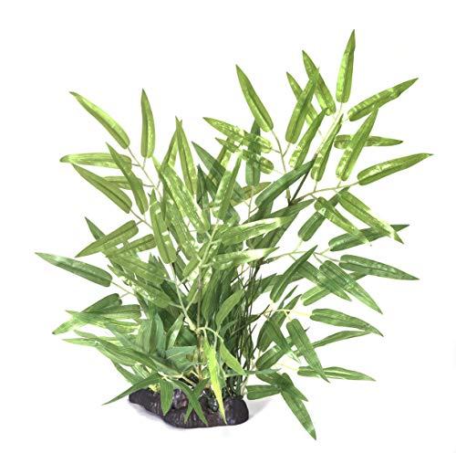 Pistachio Pet Aquarium-Pflanze, 35 cm, Bambus - Pflanzen Realistische Aquarium