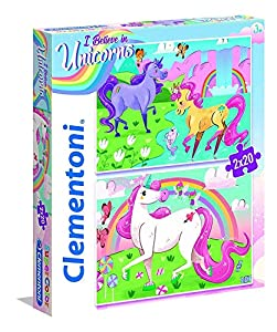 Clementoni 24754 Puzzle Contour Puzzle 20 Pieza(s) - Rompecabezas (Contour Puzzle, Animales, Niños, Unicornio, Chica, 3 año(s))
