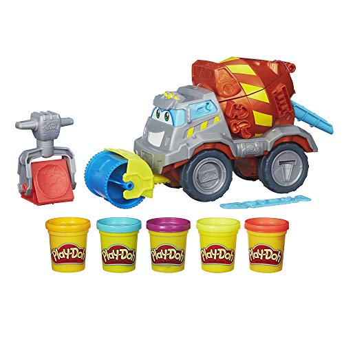 Play-Doh - B1858eu40 - Pâte À Modeler - Super Camion Ciment