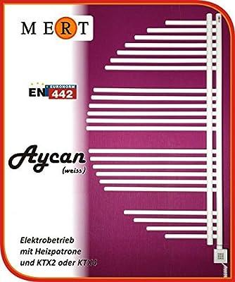 Badheizkörper Heizung-Elektroheizkörper Modell: Aycan-Designerheizkörper Fertig befüllt mit KTX 4 Patrone Farbe: Weiß Maße: 600x1600mm 800W Mert von MERT auf Heizstrahler Onlineshop