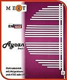 Badheizkörper Heizung-Elektroheizkörper Modell: Aycan-Designerheizkörper Fertig befüllt mit KTX 2 Patrone Farbe: Weiß Maße: 600x1200mm 600W Mert