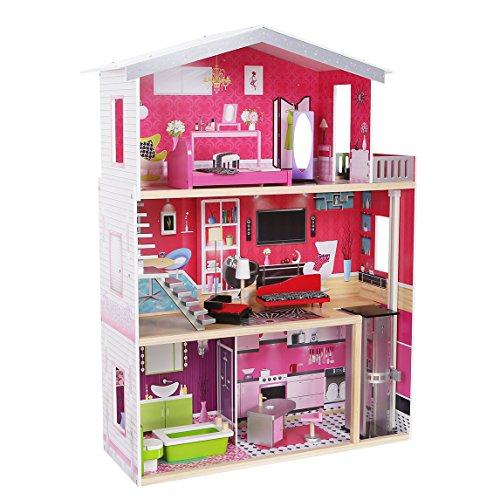 xxl barbie puppenhaus residenz luxus malibu barbiehaus puppenhaus puppenstube holz neu 4118. Black Bedroom Furniture Sets. Home Design Ideas