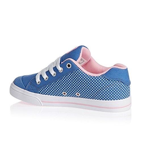 DC Shoes Chelsea TX SE - Chaussures pour Fille ADGS300044 Bleu - Blue/White Print