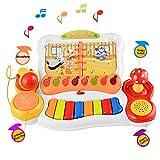 Smibie Baby Klavier spielzeug Kinder Keyboard Musikinstrumente Musik Lernspaß Liederbuch mit Mikrofon Licht und Redner