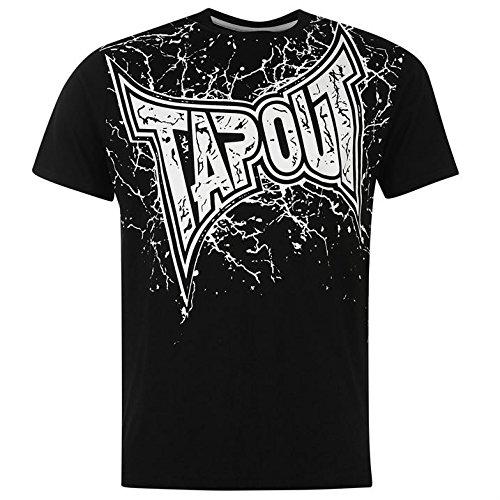 Tapout Core Herren Logo T Shirt Tee Top Kurzarm Freizeit Rundhals Print XXXL (Top Baseball-ribbed Tank)