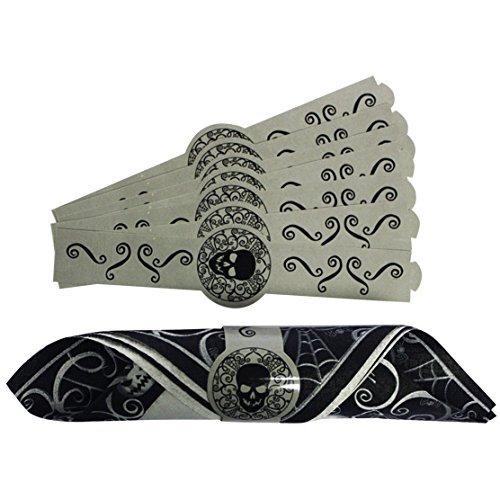 996687Fright Night Papier Serviette Ring (Gesicht Malen Kostüm)