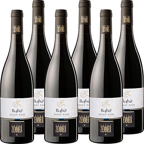 Pinot Noir Rollhütt Peter Zemmer | Vino Rosso Alto Adige | Vino Tipico Altoatesino | Confezione 6 Bottiglie da 75 Cl | Idea Regalo
