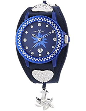 Damen-Armbanduhr ENZIAN Analog Quarz Leder EZDB05