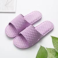 fankou The Bathroom Slippers Summer Female Anti-Slip Home Stay in The Room Thick Bath Floor Slippers Male Couples Are Cool in The Summer and,37-38, Purple