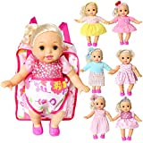 Pack of 6 Bitty Baby Alive Doll Clothes and Carrier Backpack for Doll