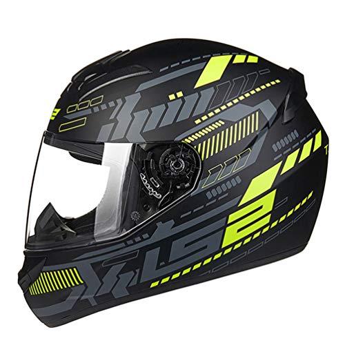 Adulto casco integrale del motociclo anti nebbia trasparente Lense moto Caschi unisex moto tappi di sicurezza per motocross racing