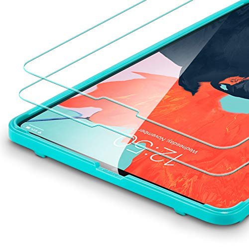 ESR Displayschutzfolie [2 Stück] Kompatibel mit iPad Pro 12,9 Zoll 2018 Modell -[mit Montage Werkzeug]- Premius 9H Hartglas Displayschutz Folie [HD Kristallklar Blasenfrei Kratzfest]