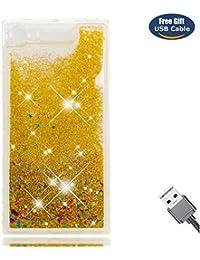 Aireratze Funda Sony XZ1,Funda Cover Sony XZ1, Purpurina Carcasa Mujer Liquida Ballistic Cristal