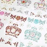 Hifot Strass Autocollant Enfants Lot de 8 Feuilles, Autocollant coloré Acrylique pour décoration, Bijoux,...