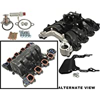 APDTY 726486 Intake Manifold w/ Plastic Throttle Body Housing & Upgraded Metal Coolant Passage Fits 2007-2011 Ford F150 or Lobo Pickup w/4.6L Romeo Engine (8th Digit Of VIN W) / 2007-2011 Ford E150 E250 Van w/4.6L Romeo Engine (8th Digit Of VIN W) by APDTY