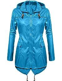 ac18d2da71faec Regenmantel Damen, pagacat Polk Dots Fischschwanz Wasserdicht Atmungsaktiv  Regenjacke Regenponcho mit Kapuze Tasche